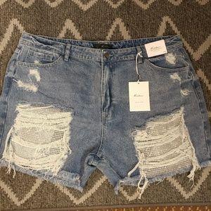 Plus Size KanCan Jean Shorts
